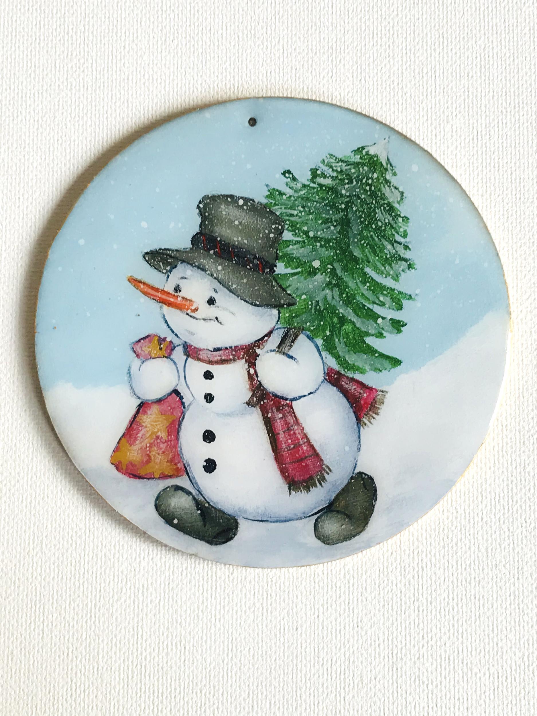 ornement Noël Bonhomme de neige3 CMM003