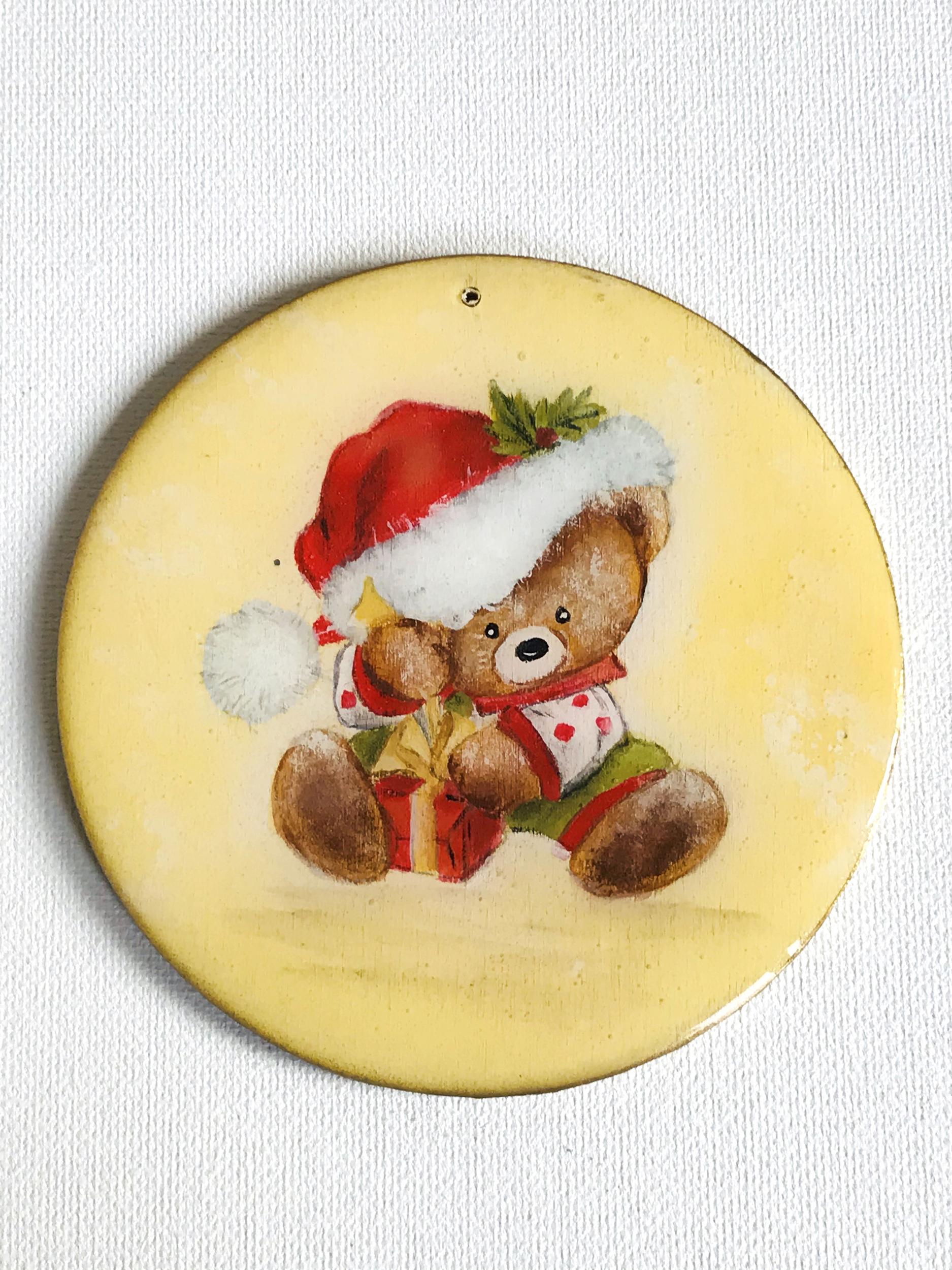 ornement Noël Ourson & cadeau2 CMM006