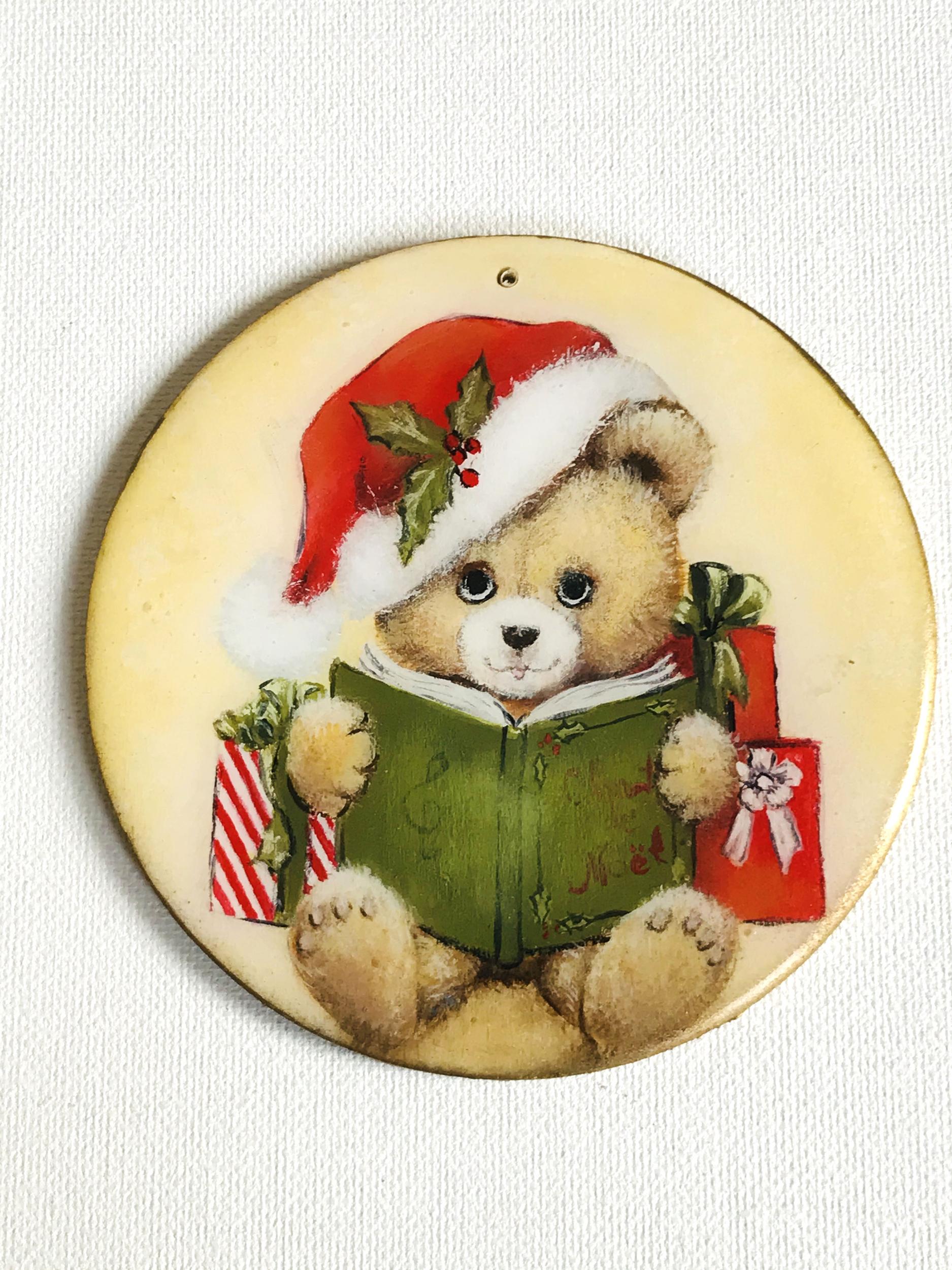 ornement Noël Ourson & livre4 CMM008