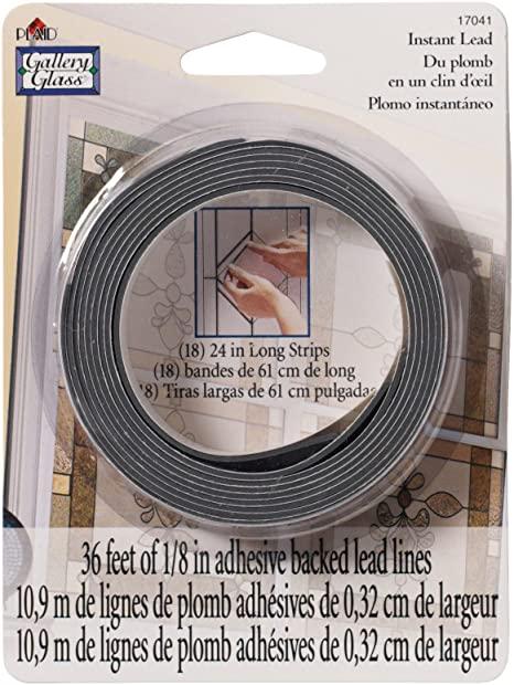 Lignes adhésives imitation filet de  plomb pour vitrail - Gallery glass