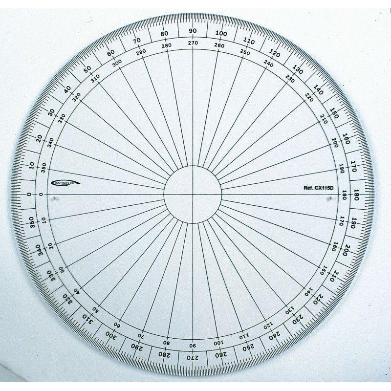 rapporteur cercle entier 15cm Graphoplex