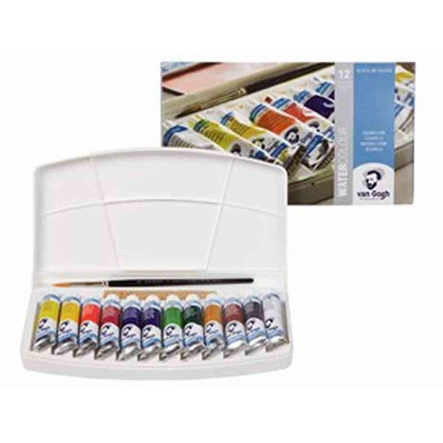 Aquarelle Van Gogh - Coffret plastique 12 tubes 10ml