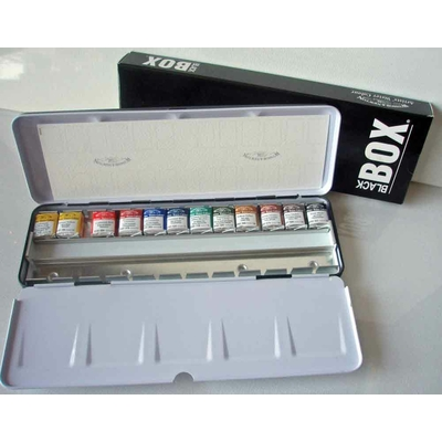Coffret Aquarelle Winsor & Newton - Black Box - 12 1/2 godets