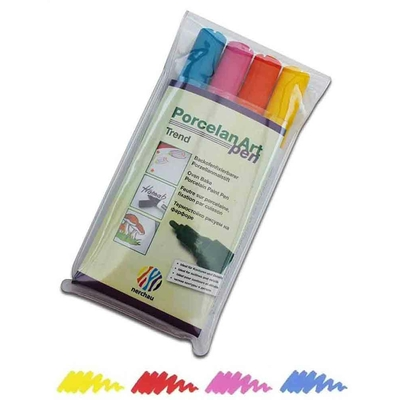 """Feutres pour porcelaine -  set de 4 couleurs """"tendance"""""""