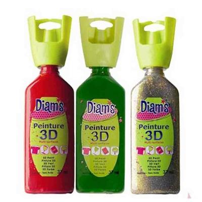 Peinture 3D multi support: Trio de DIAM'S - Noël
