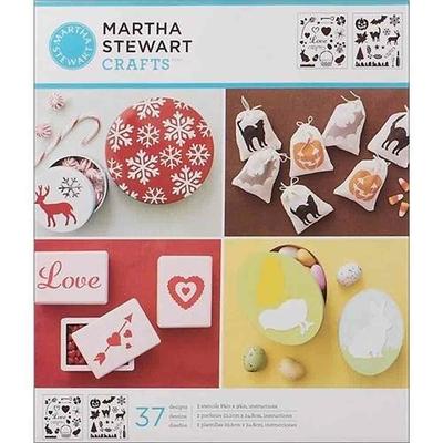 "Pochoirs  - Martha Stewart - motifs ""Icônes de fêtes"""