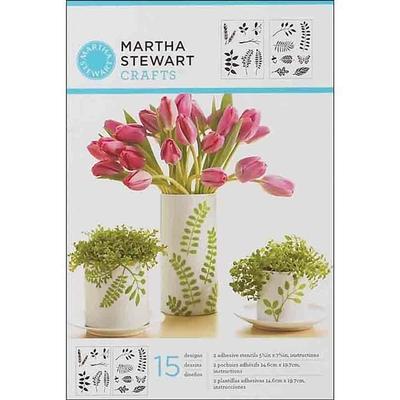 Pochoirs adhésifs - Martha Stewart - feuilles