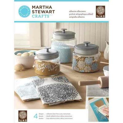 """Pochoirs sérigraphiques adhésifs - Martha Stewart - """"napperon à fleurs"""""""