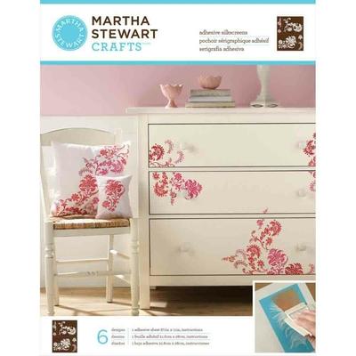 """Pochoirs sérigraphiques adhésifs - Martha Stewart - """"Fleurs exotiques"""""""