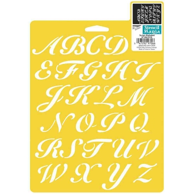 Pochoirs Delta Creative - Alphabet italique