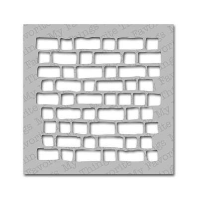 """Pochoir - """"mur de briques"""""""