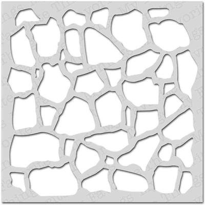 """Pochoir - """"mur de pierres"""""""