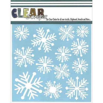 Pochoir décoratif -  flocons de neige