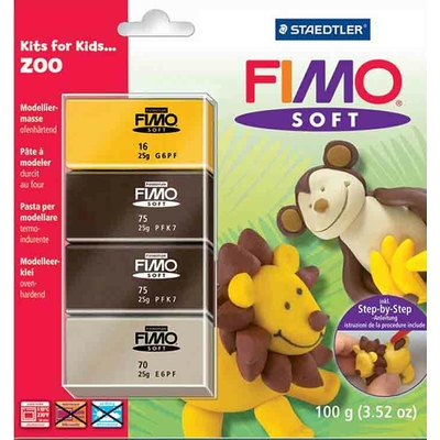 """Fimo soft - set """"animaux du zoo"""""""