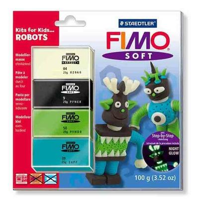 "Fimo soft - set ""Robots"""