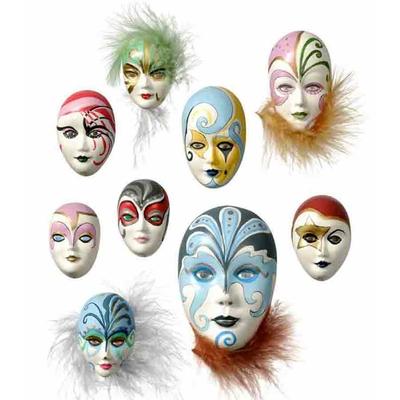 "Moule motifs ""masques miniatures 1"" - Knorr Prandell"