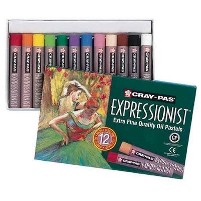 Etuis de 12 pastels à l'huile Extra fins Cray-Pas Expressionnist