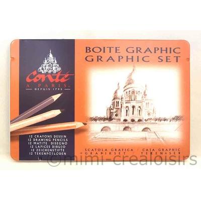 """Boîte métal """"Graphic set """" Conté à Paris"""