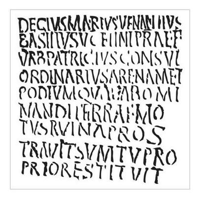 """Pochoir écriture, lettres romaines - 15X15cm (6""""X6"""")"""