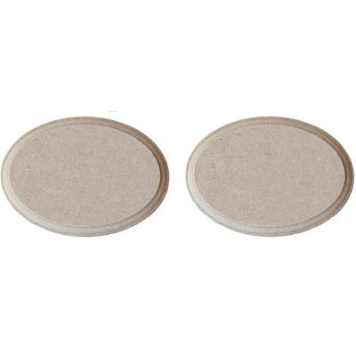 2 mini plaques ovales en médium