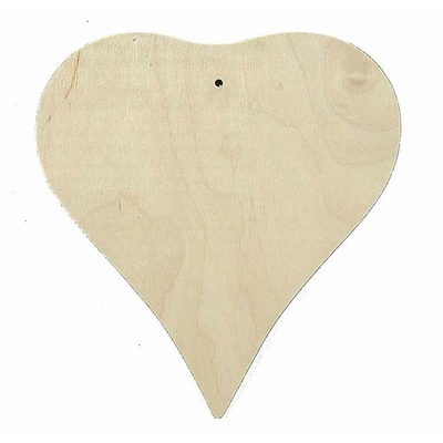 Plaquette en bois forme cœoeur (19x20cm)