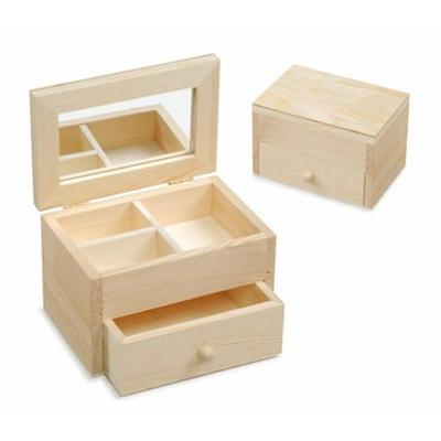 Petite boîte à bijoux en bois naturel FSC