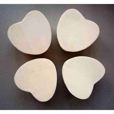 Lot de 4 petites boîtes copeaux,  forme coeur