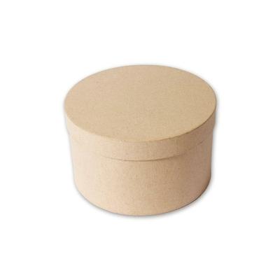 Boîte ronde en papier mâché