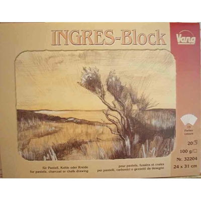Bloc pastel Ingres - 20 f - coloris assortis