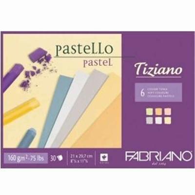 Bloc pastel A4 - 160g - Tiziano -  Fabriano