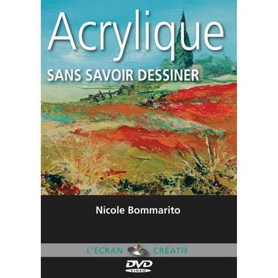 DVD l'écran créatif - l'Acrylique  Sans savoir dessiner - Vol 1