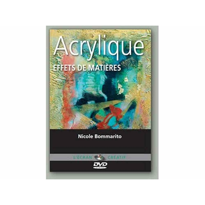 DVD L'écran Créatif - Acrylique - Effets de matières - Vol 4