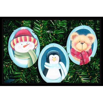 Winter trio ornaments -  Deb Malewski