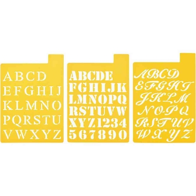 Pochoirs Delta Creative - set 3 alphabets