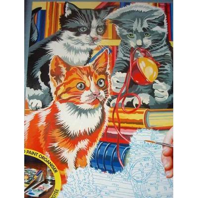 Peinture par numéros : Les chatons joueurs