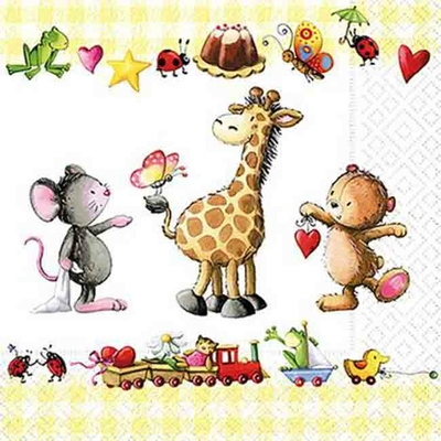 Serviette en papier - Little friends