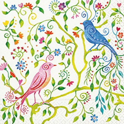 """Serviette en papier - """"Oiseau magique"""""""