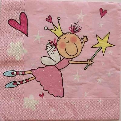 """Serviette en papier  - """"Petite princesse"""""""