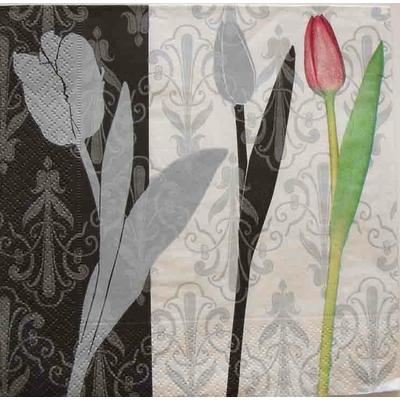 """Serviette en papier - """"Tulipes de style"""""""