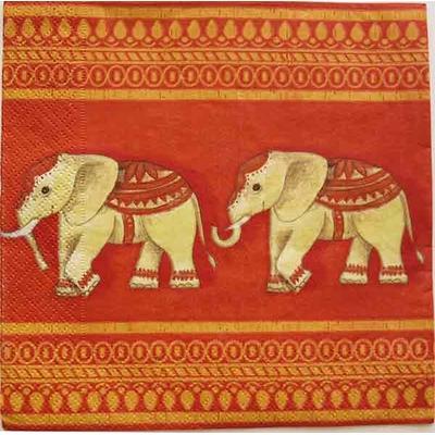 """Serviette en papier  - """"Elephant"""""""