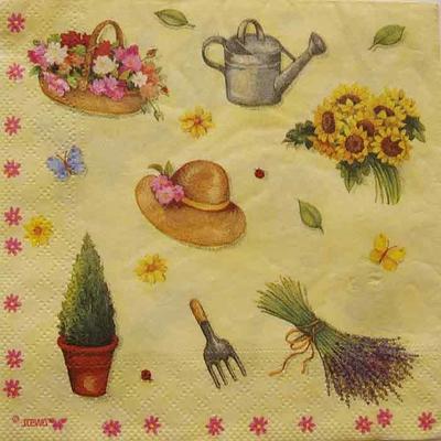 """Serviette en papier  - """"Au jardin"""""""