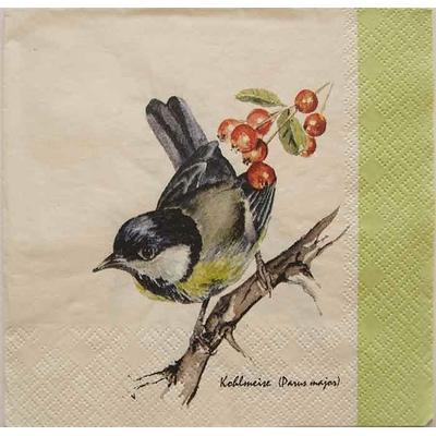 """Serviette en papier  - """"L'Oiseau"""""""