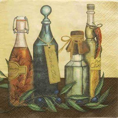 """Serviette en papier - """"Huile d'olive"""""""