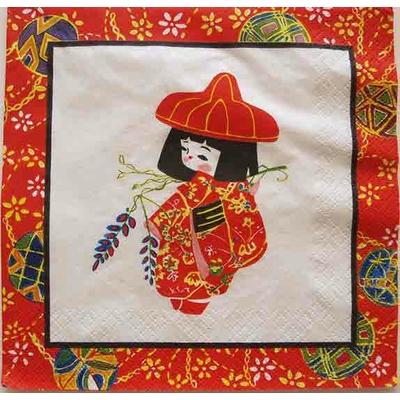 """Serviette en papier  - """"Petite Japonaise"""""""