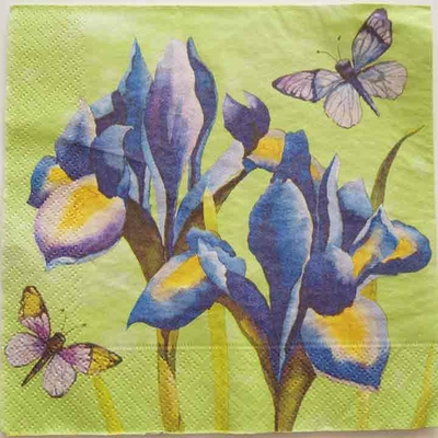 "Serviette en papier - ""Iris"""