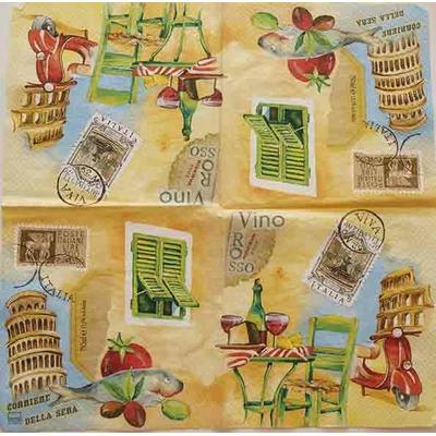 """Serviette en papier  - """"Italie"""""""