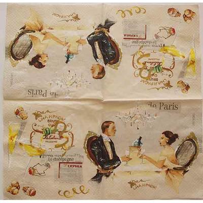 """Serviette en papier  - """"Champagne"""""""