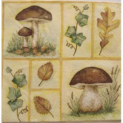 """Serviette en papier  - """"Les champignons"""""""