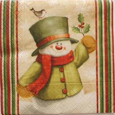 """Serviette en papier Noël - """"Bonhomme de neige"""""""