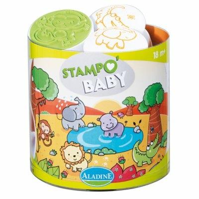 Stampo Baby - Kit tampons et encreur pour enfants - Savane
